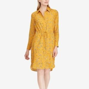 Lauren Ralph Lauren Floral-Print Shirtdress Gold